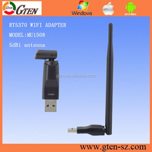 wifi bridge rj45 wireless adapter 5dBi RT5370 USB2.0 802.11n/g/b 2.4GHZ 150Mbps Wifi/WLAN nano mini