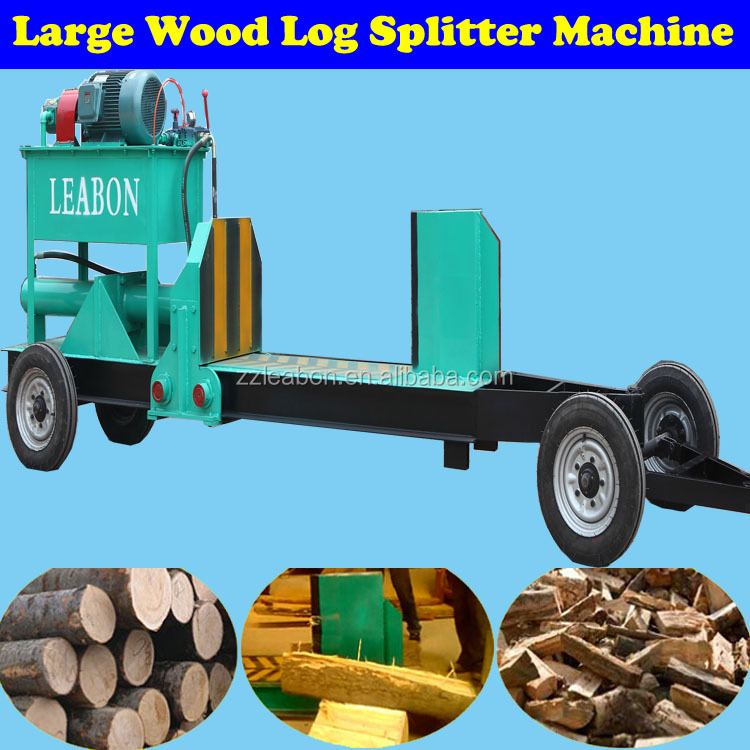 Large Sized Wood Log Cutter and Splitter for Crushing Sawdust Making Fuel Pellet