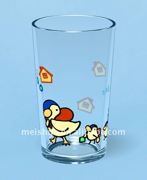 decal glass cup
