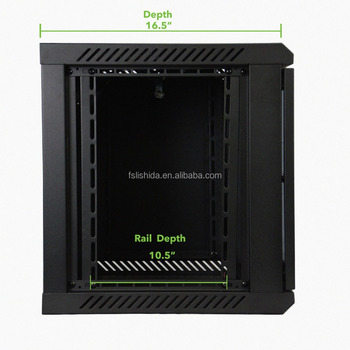 9U IT Wall Mount Rack Wall Mount Server Cabinet