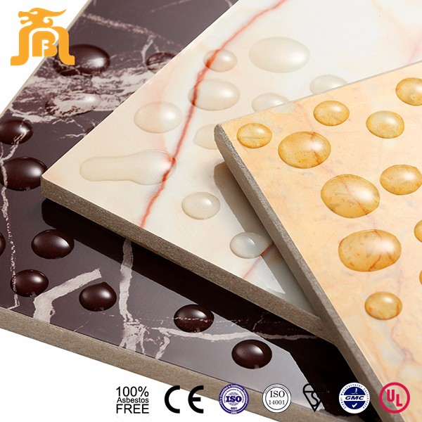 Glazed Decorative Interior Wall Board High Strength Imitation Calcium Silicate TV Wall Panels