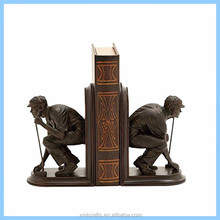 custom realistic golf resin sports bookends player figurines for souvenirs