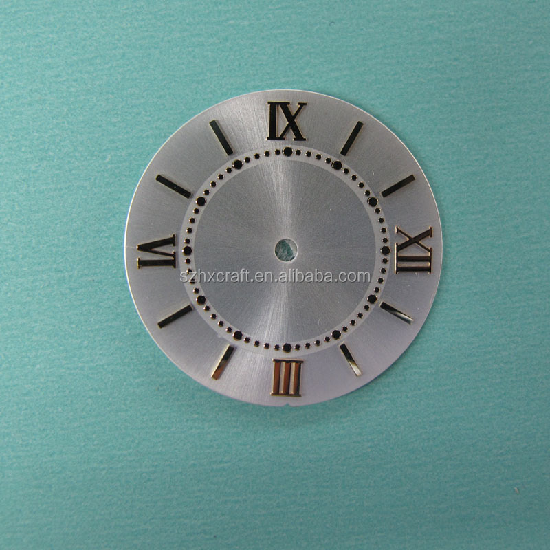 sungrey brushed watch dial with real indexes