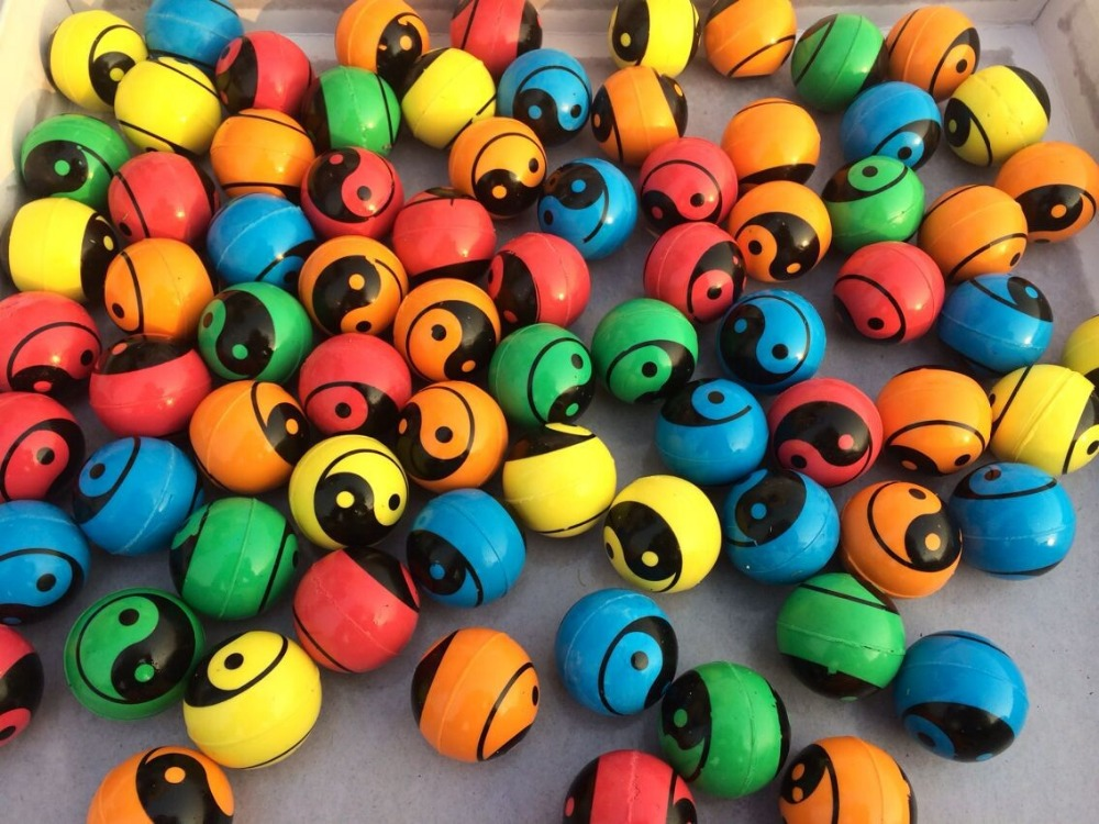 25mm,32mm,45mm Solid Color Rubber High Bouncing Ball Mix
