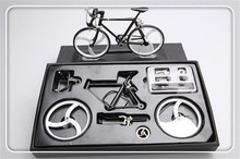 Metal assembling diy bicycle model simulation educational Fixed Gear model