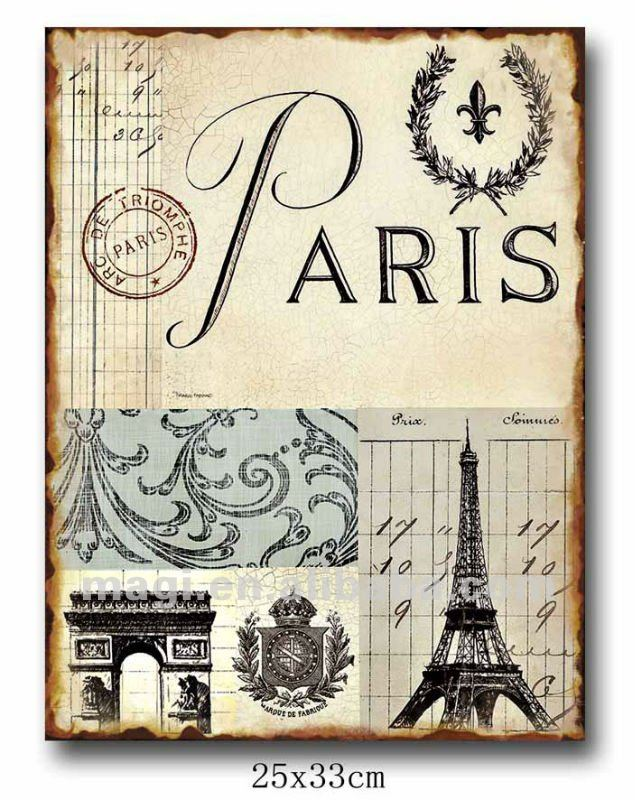Antique New Design French Style Chic Metal Sign