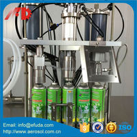 Factory Color Hair Spray Paint Filling Machine On Sale
