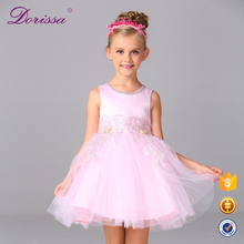 bowknot clothing floral pattern skirts korean style leather dress gingham dress for little baby girl