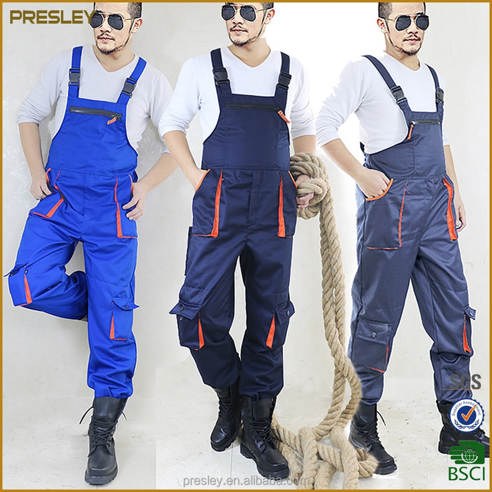 Sleeveless work overalls men women protective coverall repairman strap jumpsuits trousers working uniforms Plus Size sleeveless