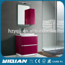 French Gloss Red Vanity Free Standing Above Counter Single Sink cheap Vanity MDF Bathroom Cabinet Unit