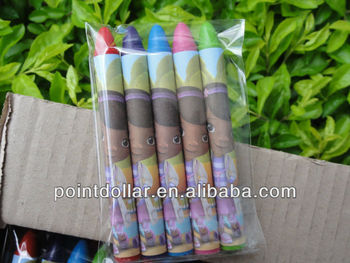 Colour Wax Crayons for Kids/Children, 5pcs Crayons packed in a Opp Plastic Bag