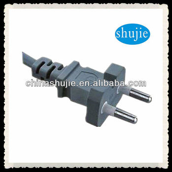 2013 2-Pin New industrial Power cord with korea plug ;extension cables plug