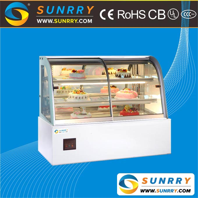 Marble Refrigerated Bakery Acrylic Cake Display Showcase and Display Counter