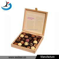 Custom printing high quality real wood dubai gift chocolate box