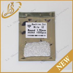 Factory direct wholesale synthetic stones cubic zirconia loose machine cut AAAAA round white cz