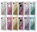 Robot clip mobile phone liquid case For iPhone 7 7Plus Glitter