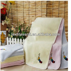 Factory direct sales 100% cotton cut pile embroidery soft face towel