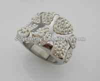 SSR0090 Eye-Catching piece Shape zircon Stainless Steel Fashion Ring