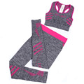 Ladies summer top bra and legging pant sport wear yoga set