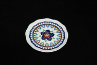 High quality ceramic blue floral dinner/dessert plate dish