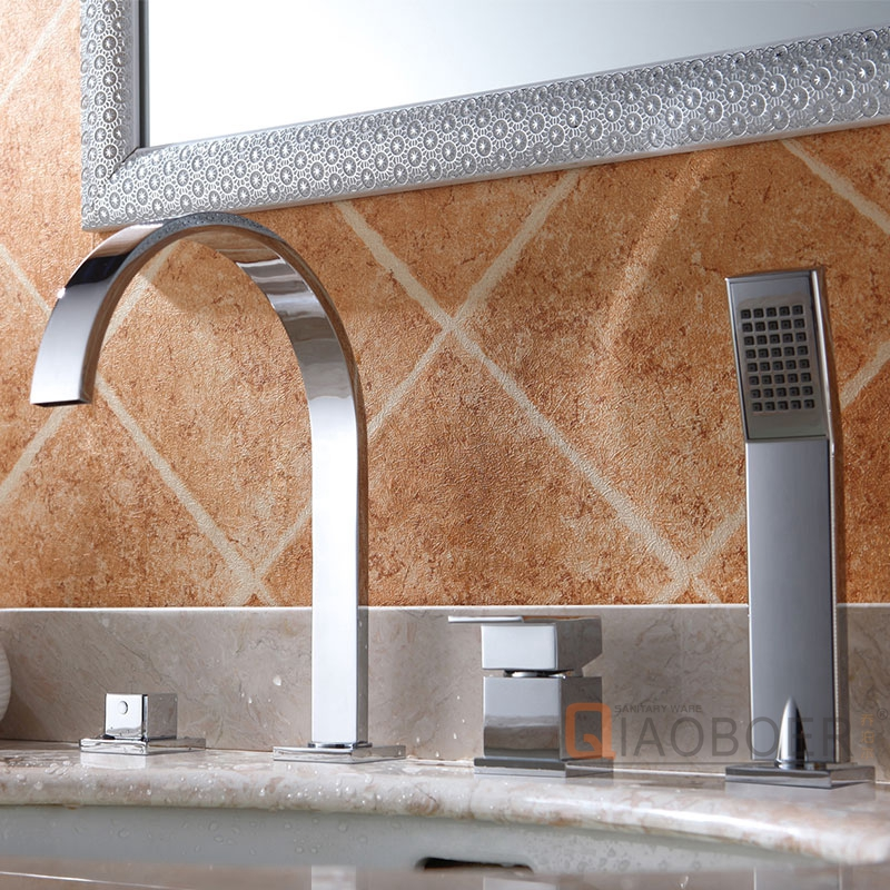 Ceramic Cartridge Chrome Bathroom Faucets For Vessel Sinks