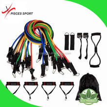 11Pcs/Set Fitness Resistance Bands Exercise Tubes Practical Elastic Training resistance tubes