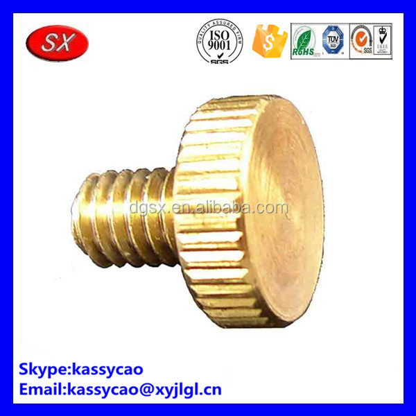 OEM brass knurled/butterfly wing thumb screw passing ISO 9001