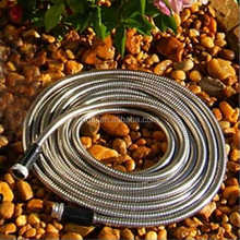 factory price Stainless Steel Garden Hose food grade silicone hose with aluminium fittings