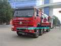 best quality 12 wheeler howo truck mounted crane 80 ton for heavy-duty equipment lifting