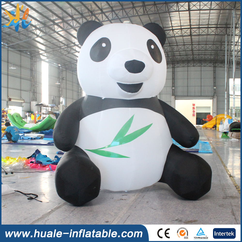 Best selling giant inflatable panda, inflatable cartoon for advertising