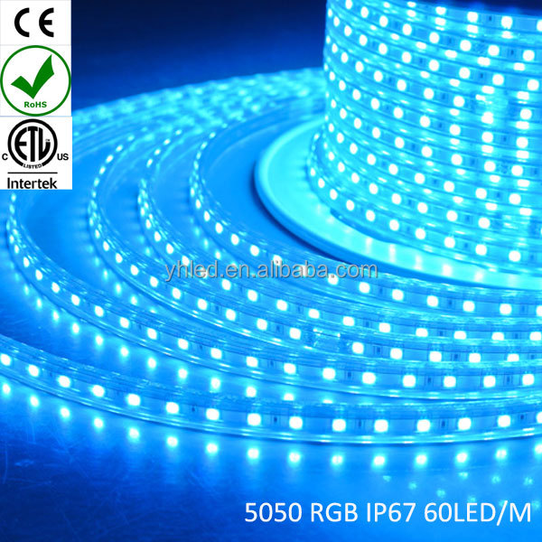 Factory newest strip high voltage outdoor indoor super bright rgb led strip 5050 red type six 8 led strip rgb