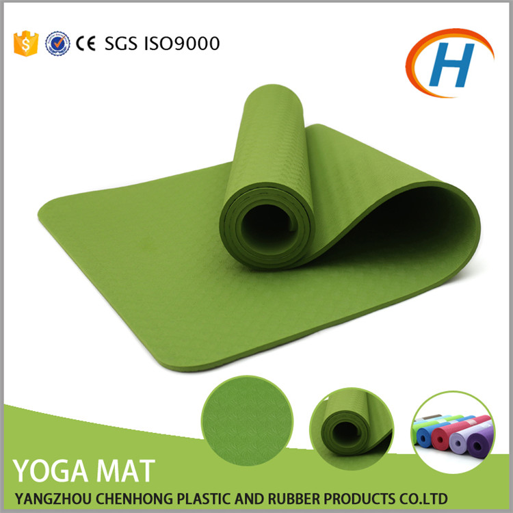 TPE 4-10MM Thickness cheapest yoga mat friendly with eyelets