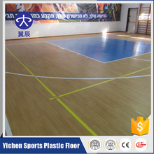 Hot Sales Popular PVC Fire Wood Floor Used Rubber Outdoor Basketball Court Flooring Coating