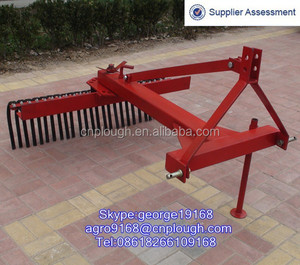 Small Tractor 3 point hitch landscape raking machine for sale