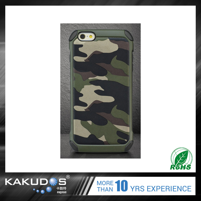 Wholesale factory camouflage 4.7/5.5 inch custom cell phone case for iphone 7
