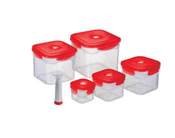 Square food container,set of 5