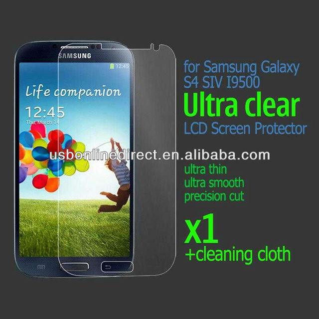 1x Anti-Scratch Film Clear screen protector film For Samsung Galaxy S4 SIV I9500
