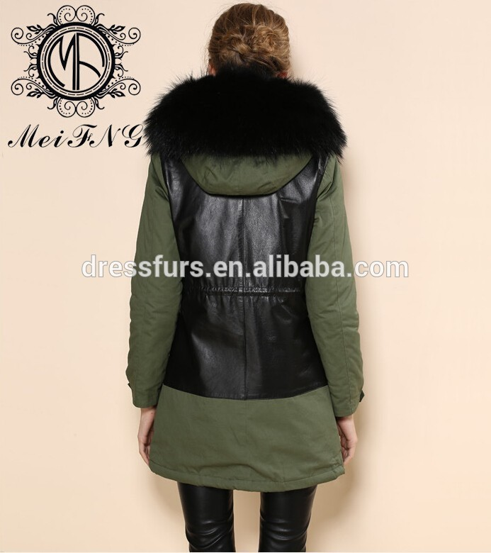 style long en ligne vente de fourrure parka en fausse fourrure manteau d 39 hiver manteau de. Black Bedroom Furniture Sets. Home Design Ideas