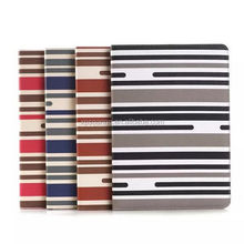 Stripe skin wallet leather case for ipad air 2, stand pu case for ipad 6