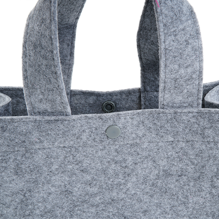 Fashion New Style Grey Women Wholesale Felt Bag With Tote