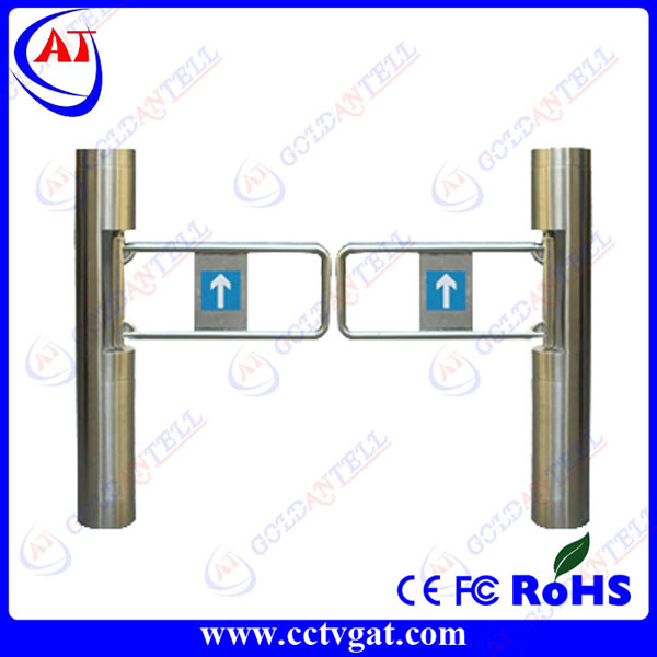 Automatic bi-directional security mechanical swing gate stainless steel half height portable turnstiles access control system