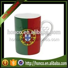 Portugal national team colors porcelain mug for 2016 EURO CUP