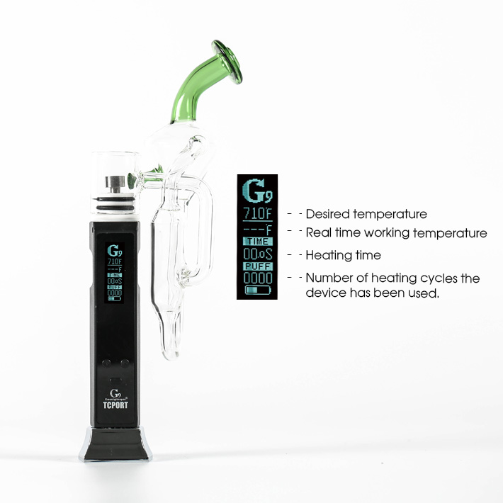 Wholesale Wax Electric Nail Dabber G9 Portable Dab Rig Vaporizer With Smart Temp Control System
