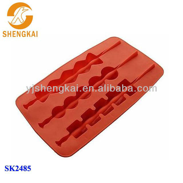 1pc 3 in 1 silicone different geometric shape ice mould