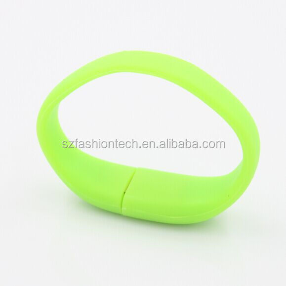 Luminous wristband USB flash drive/soft silicone glowing bracelet USB flash drive for nigh walkers in Russia
