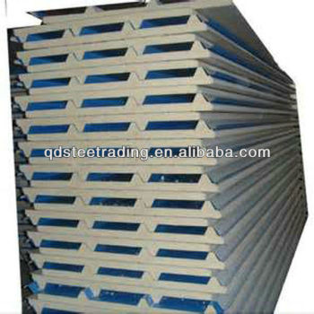 pu steel sandwich panel roofing