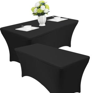 stretch table cloth 6' ft Spandex Fitted Stretch Tablecloth Rectangular Table Cover Wedding Banquet Party