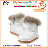 MOQ 60 winter leather rubber boot for kids
