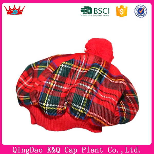 Hot sell high quality promotional scottish hat