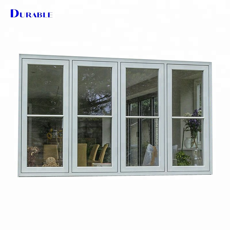 Finished surface double glazed material aluminum modern windows and doors from China manufacturer